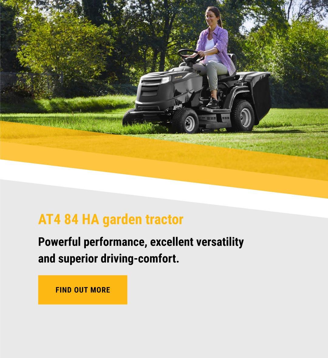 ALPINA AT4 84 HA garden tractor